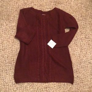 Cable Crew Tunic Burgundy Passion S FLASH SALE!!!